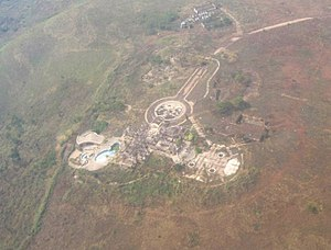 Gbadolite - Image: Gbadolite mobutu palace site