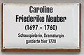 Gedenktafel Markt 18 (Wittenberg) Caroline Friedericke Neuber.jpg
