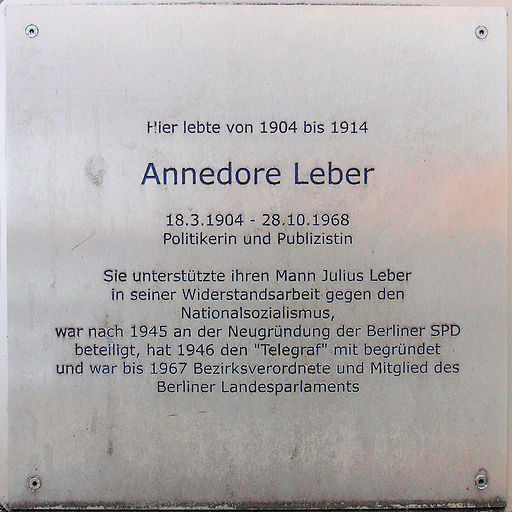 Gedenktafel Pariser Str 14a (Charl) Anedore Leber