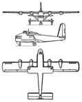 General Aircraft GAL-38 Fleet Shadower 3-view Les Ailes January 25, 1947.png