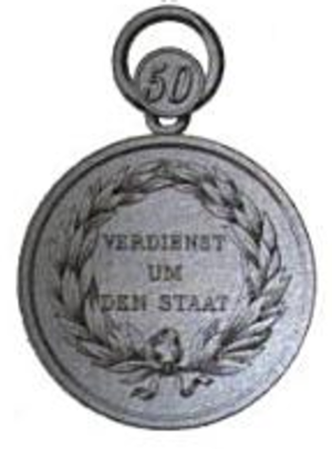 General Honor Decoration (Prussia) - General Honor Decoration, 2nd Class with 50th anniversary shield