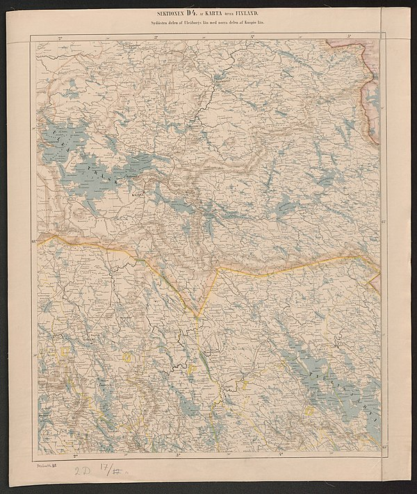 600px general map of the grand duchy of finland 1863 sheet d4