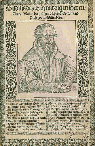 Georg Major - Portrait of Georg Major from the Warhaffte Bildnis etlicher Hochloeblichen Fuersten vnd Herrn, 1562