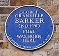 George Barker blue plaque, Loughton.jpg