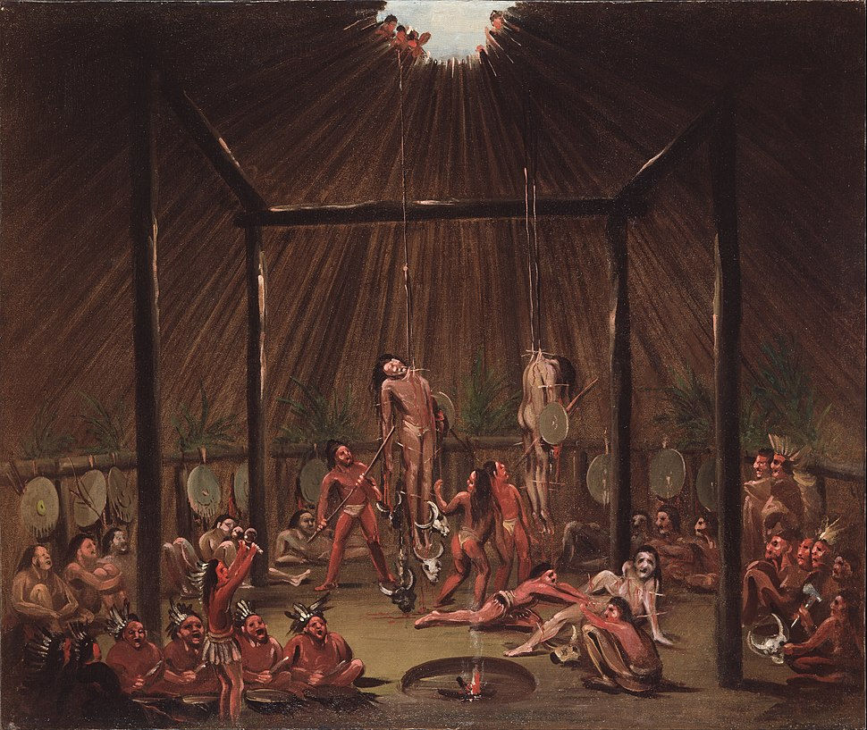 George Catlin - The Cutting Scene, Mandan O-kee-pa Ceremony - Google Art Project
