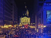 George Floyd protests, downtown Indianapolis, 2020-05-29