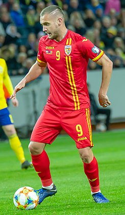 George Puscas (cropped) - Sweden vs Romania 23 March 2019.jpg