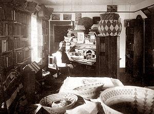 George Wharton James - George Wharton James in his workshop.