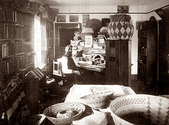 George Wharton James - George Wharton James in his workshop.