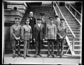 German cavalry horse show team received by Secretary of War Davis. Members of the German cavalry horse show team, one of the five foreign teams to compete with the United States in the 1928 LCCN2016889088.jpg