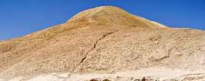 Oil shale in Israel - Ghareb Formation (an Upper Cretaceous oil shale) in Wadi Hawarim, southern Israel.