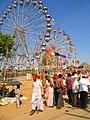 Giant wheels at Pushkar, Rajasthan.jpg