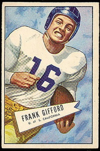 Frank Gifford - Gifford's rookie card