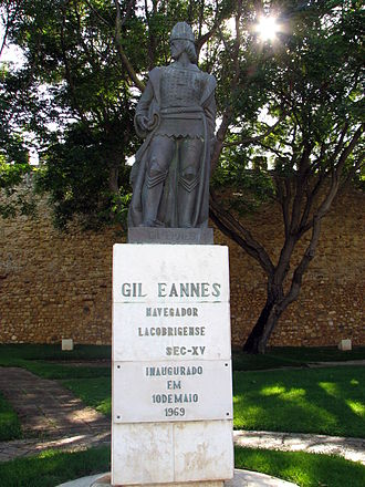 Gil Eanes - Statue of Gil Eanes in his native town: the city of Lagos