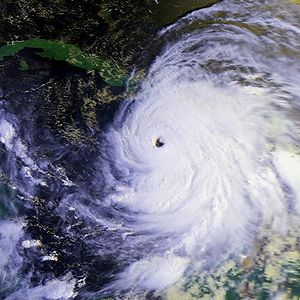 Hurricane Gilbert - Gilbert approaching Jamaica on September 12