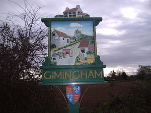 Gimingham - Image: Gimingham Village Sign 10 Nov 2007 (3)