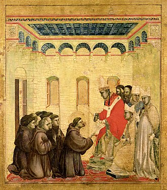 Saint Francis Receiving the Stigmata (Giotto) - Image: Giotto. Predella 2