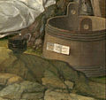 Giovanni Bellini and Titian - The Feast of the Gods - Detail- label on tub.jpg