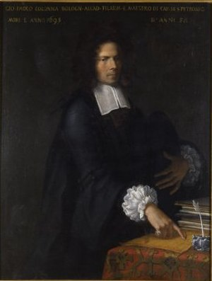 Giovanni Paolo Colonna - Portrait of Giovanni Paolo Colonna by Giovanni Maria Viani (from the collection of the International museum and library of music, Bologna)