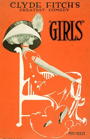 Clyde Fitch - Poster for Clyde Fitch's comedy Girls, 1910