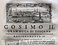 Giuseppe maria bianchini, Dei Granduchi di Toscana della real Casa De' Medici, per gio. battista recurti, venezia 1741, 14 cosimo II, 4 livorno.jpg