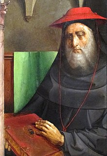 painted portrait of Cardinal Bessarione
