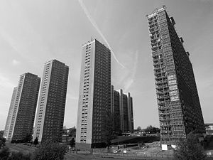 Red Road Flats - Red Road Flats, view from Broomfield Road, 2012.
