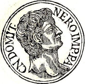 Gnaeus Domitius Ahenobarbus (consul 32) - Gnaeus Domitius from Guillaume Rouillé's Promptuarii Iconum Insigniorum