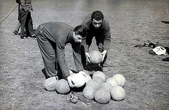 Georgi Naydenov (footballer) - Naydenov (left) in 1962