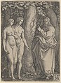 God Forbidding Adam and Eve to Eat from the Tree of Knowledge, from The Story of Adam and Eve MET DP836617.jpg