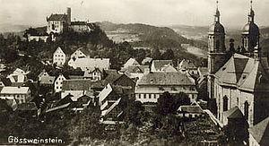 Gößweinstein - Castle and basilica in 1928