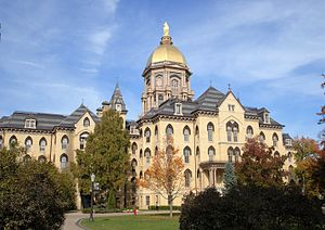 Main Building (University of Notre Dame) - Image: Golden Dome