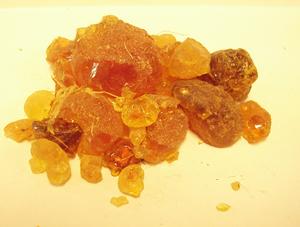 Al-Mu'izz ibn Badis - Arabic gum resin.
