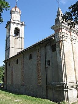 Gottasecca. Santuario della Madonna Assunta Scorcio
