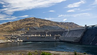Grand Coulee - Part of the Grand Coulee has been dammed and filled with water as part of the Columbia Basin Project.