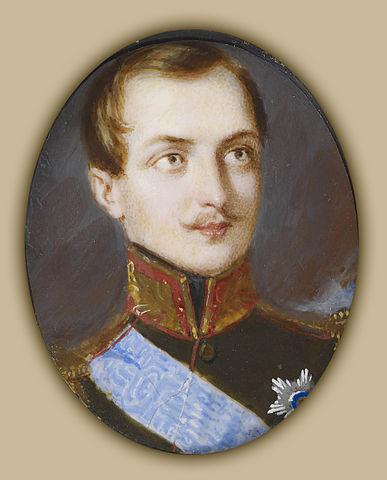 Иван Винберг. Портрет великого князя Александра Николаевича. <i>Около 1838 года, миниатюра на слоновой кости</i>