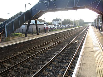 Grateley railway station - Image: Grateley Station West