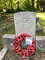 Gravestone of Leading Aircraftman (U-T Pilot) Harry Edward Taylor of the Royal Air Force Volunteer Reserve at Llandaff Cemetery, May 2020.jpg