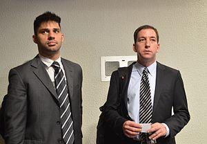 Glenn Greenwald - Greenwald (right) and his partner David Miranda in 2013