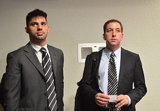 Glenn Greenwald - Greenwald (right) and his partner David Miranda in 2013