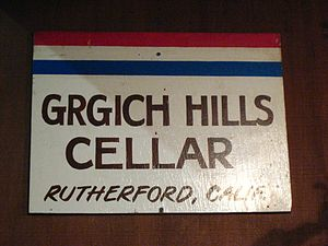 Magyar: A Grgich Hills Cellar borászat táblája...