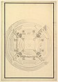 Ground Plan for a Catafalque for a Duchess of Hanover, probably Sophia (1630-1714) the mother of George I of England MET DP820103.jpg