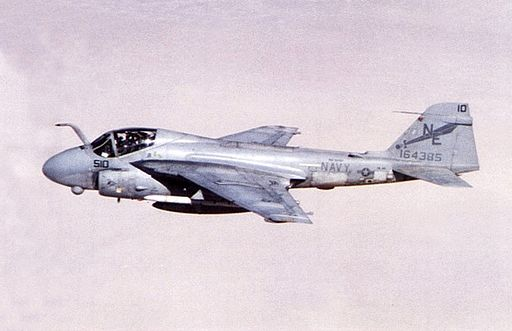 Grumman A-6E Intruder of VA-145 in flight c1992