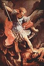 L'arcangelo Michele di Guido Reni conservato all'interno della chiesa.