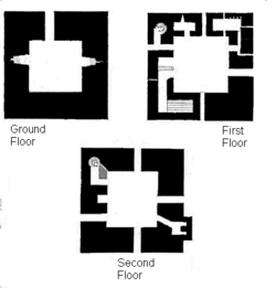 Floor plan of the castle keep