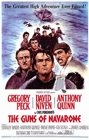 Poster tayangan pawagam filem The Guns of Navarone