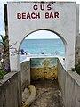 Gus' Beach Bar Stairwell Leading to Baie Rouge-Red Bay Beach (6543960273).jpg
