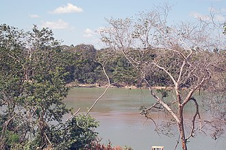 Lethem, Guyana - Lethem, looking across the Takutu River into Brazil