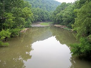 The w:Guyandotte River as viewed downstream fr...