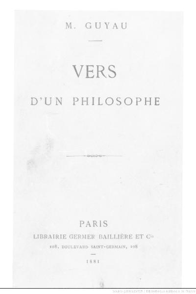 File:Guyau - Vers d'un philosophe, 1881.djvu